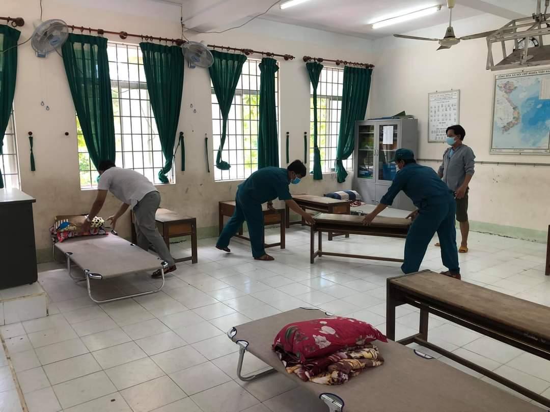 Cơ sở cách ly y tế cộng đồng ở thị trấn La Hai, huyện miền núi ĐồngXuân