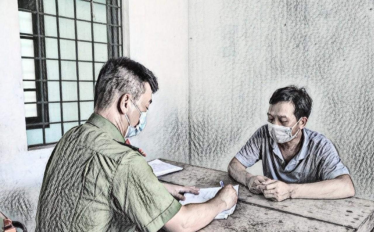 Đối tượng Phan Văn Phước  tai cơ quan công an
