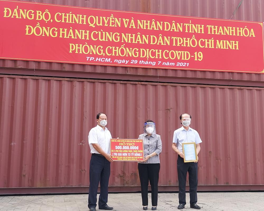 TPHCM tiếp nhận 1.765 tấn hàng hỗ trợ từ tỉnh Thanh Hóa