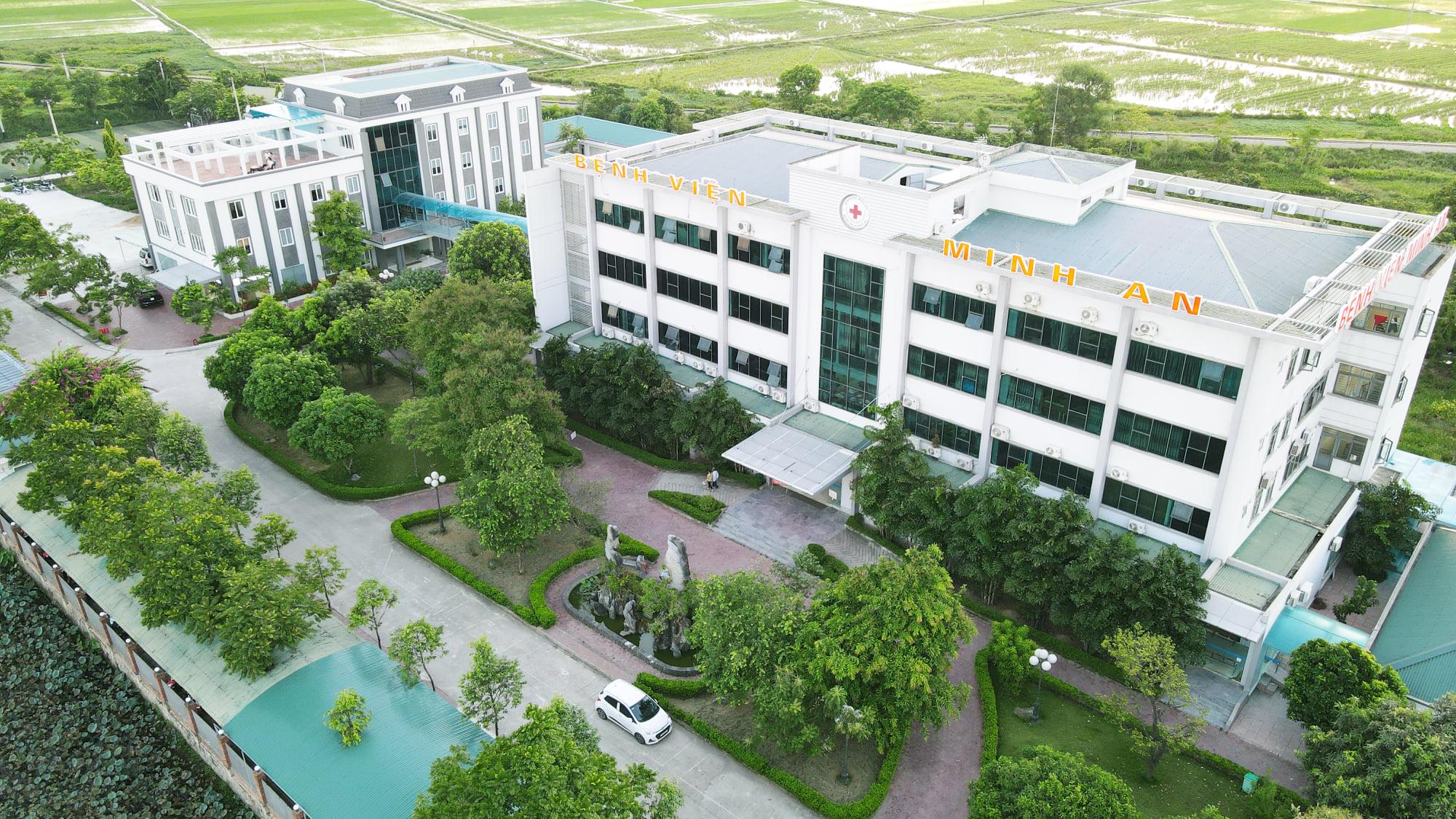 Bệnh viện đa khoa Minh An nằm giáp quốc lộ 1A, thường làm test nhanh COVID-19 cho tài xế đường dài thời gian gần đây