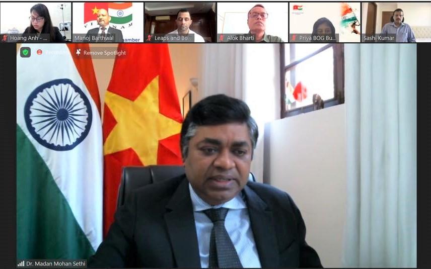 Tổng lãnh sự Ấn Độ tại TPHCM Madan Mohan Sethi, Chủ tịch INCHAM Manoj Bharthwal
