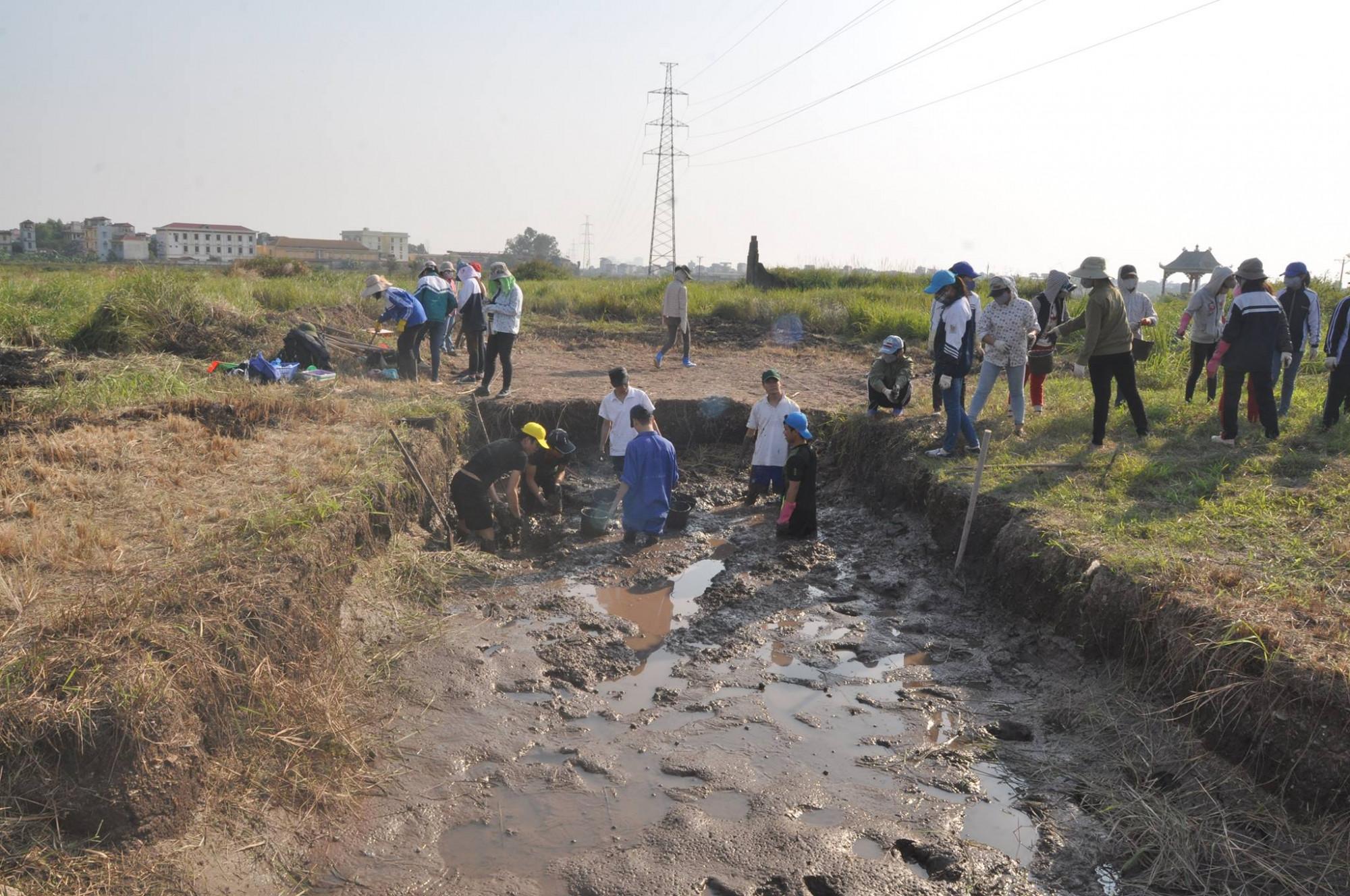 Tại địa điểm Vườn Chuối, kể từ năm 1969 đến nay đã có hàng chục cuộc khai quật.