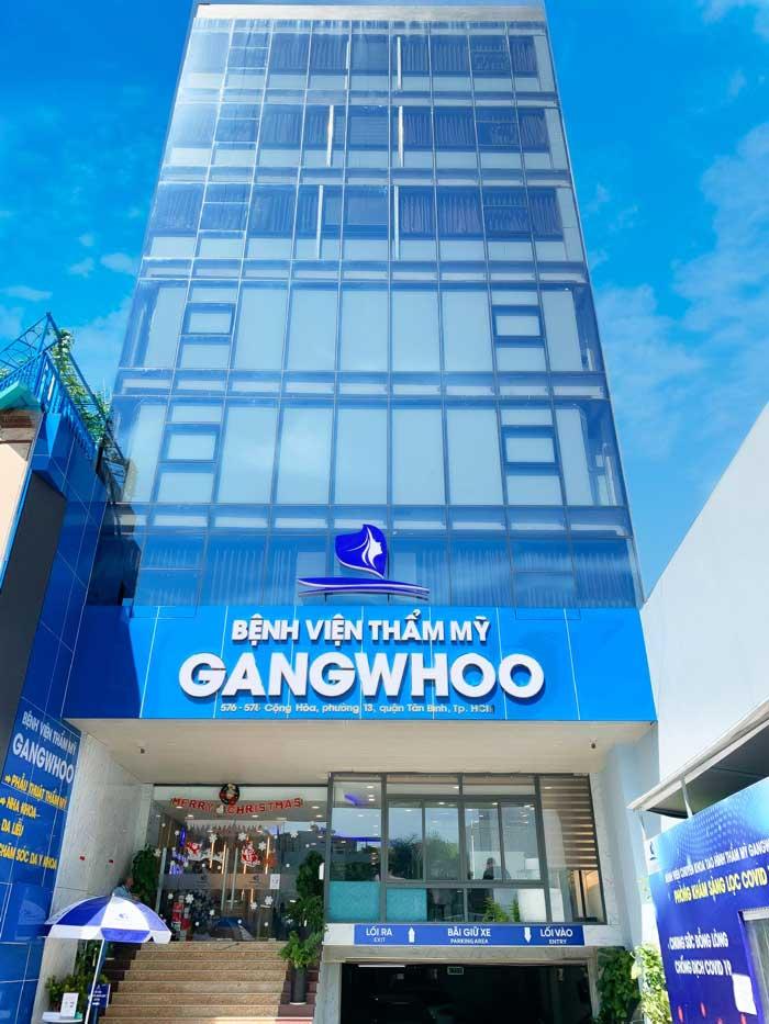 Bệnh viện thẩm mỹ Gangwhoo tọa lạc tại số 576-578 Cộng Hòa, P.13, Q. Tân Bình, TPHCM