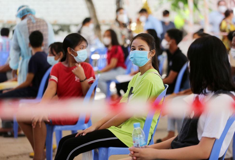 Thủ tướng Hun Sen nhấn mạnh việc tiêm phòng COVID-19 cho trẻ em là bước quan trọng để tạo ra miễn dịch cộng đồng.