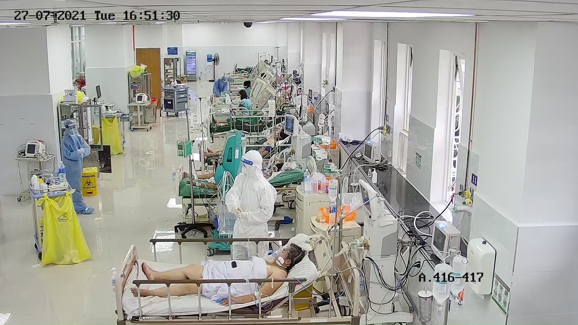 Khu điều trị bệnh nhân COVID-19 nặng tại BVĐK Thống Nhất Đồng Nai