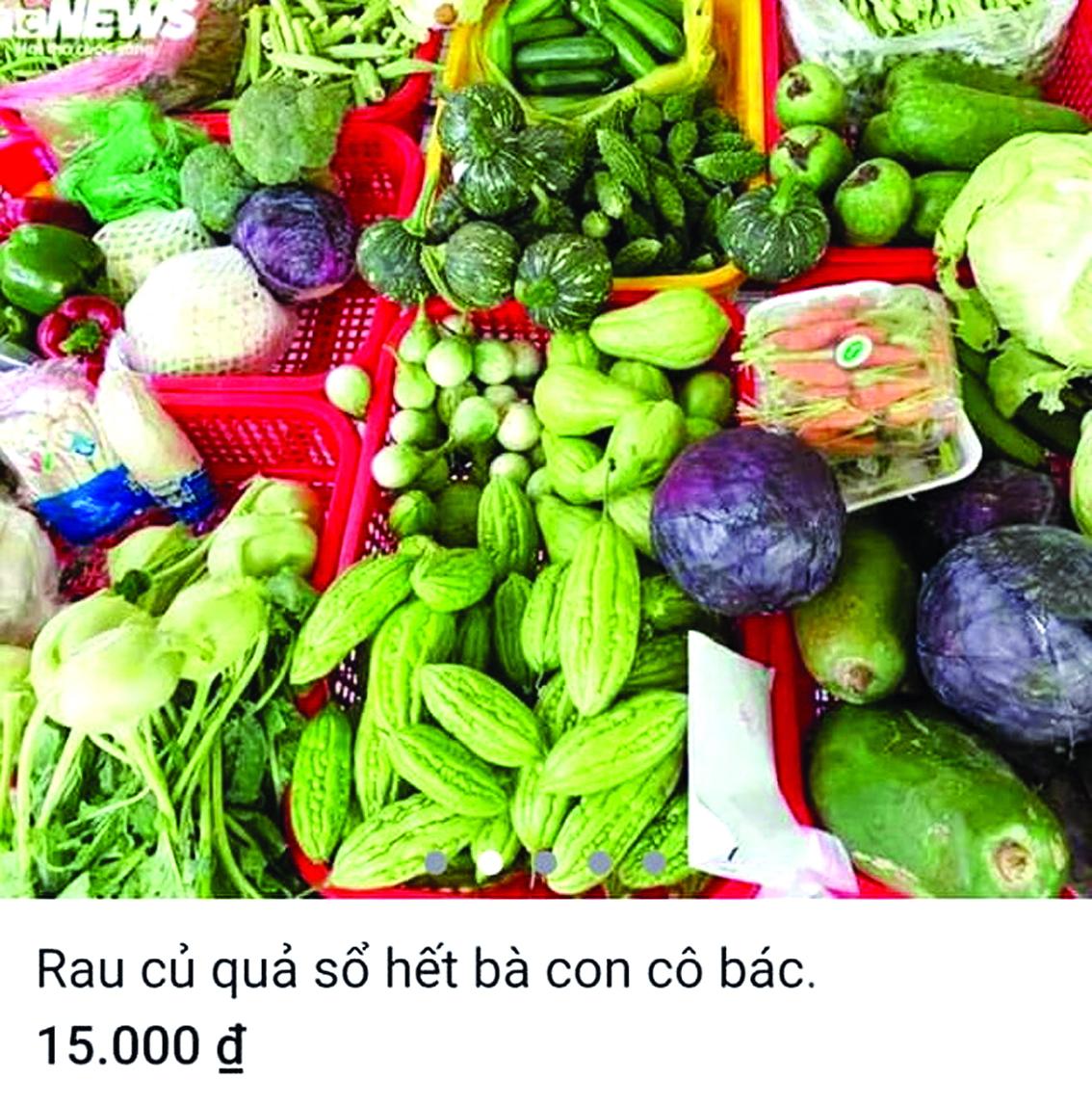Trang Facebook Cô Út Bố Láo đăng bán rau, thịt, cá giá rẻ để lừa đảo chiếm đoạt tiền của khách (ảnh do nạn nhân của tài khoản này cung cấp)