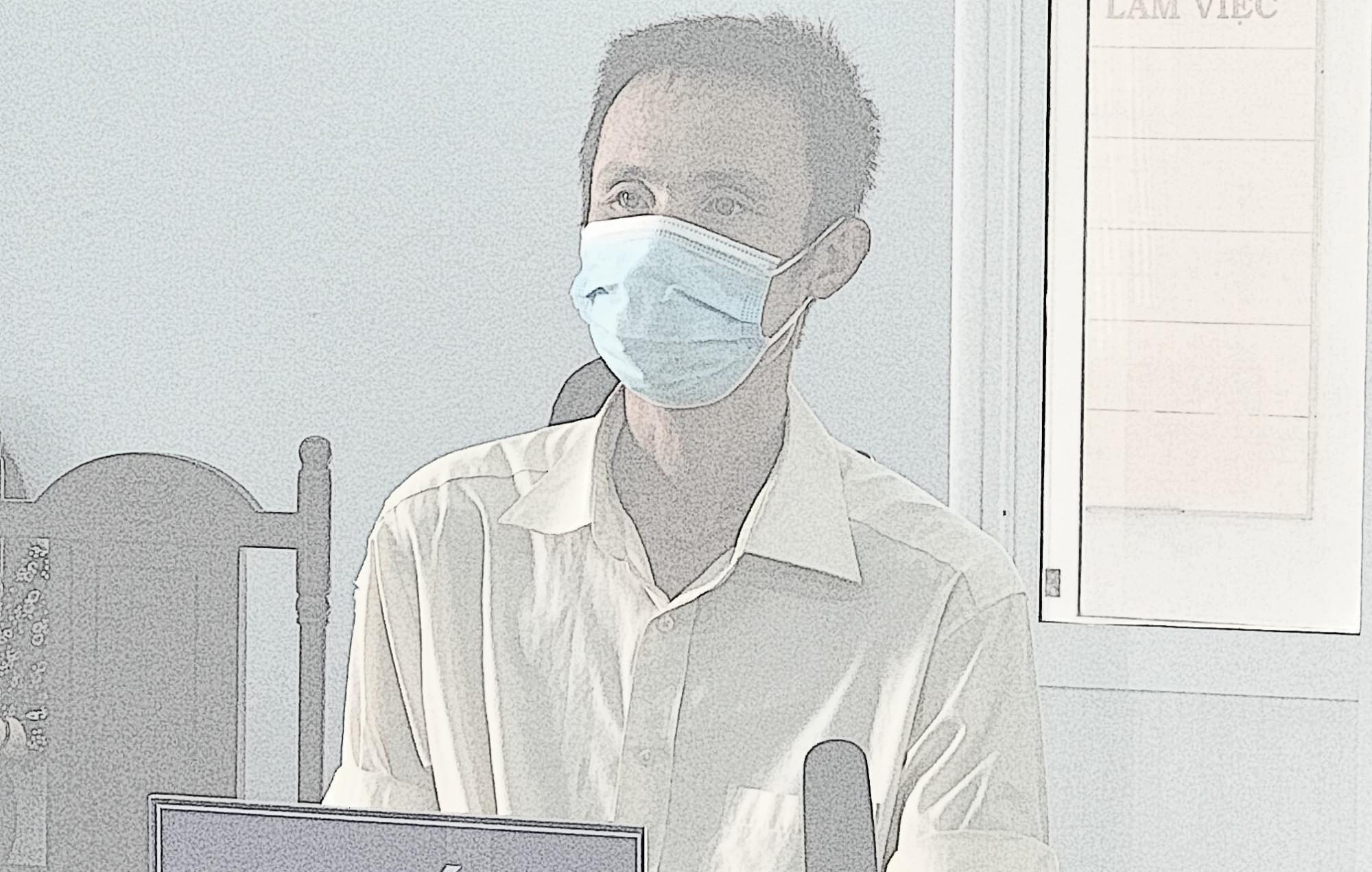 Bị cáo Trần Văn Hùng tại phiên tòa