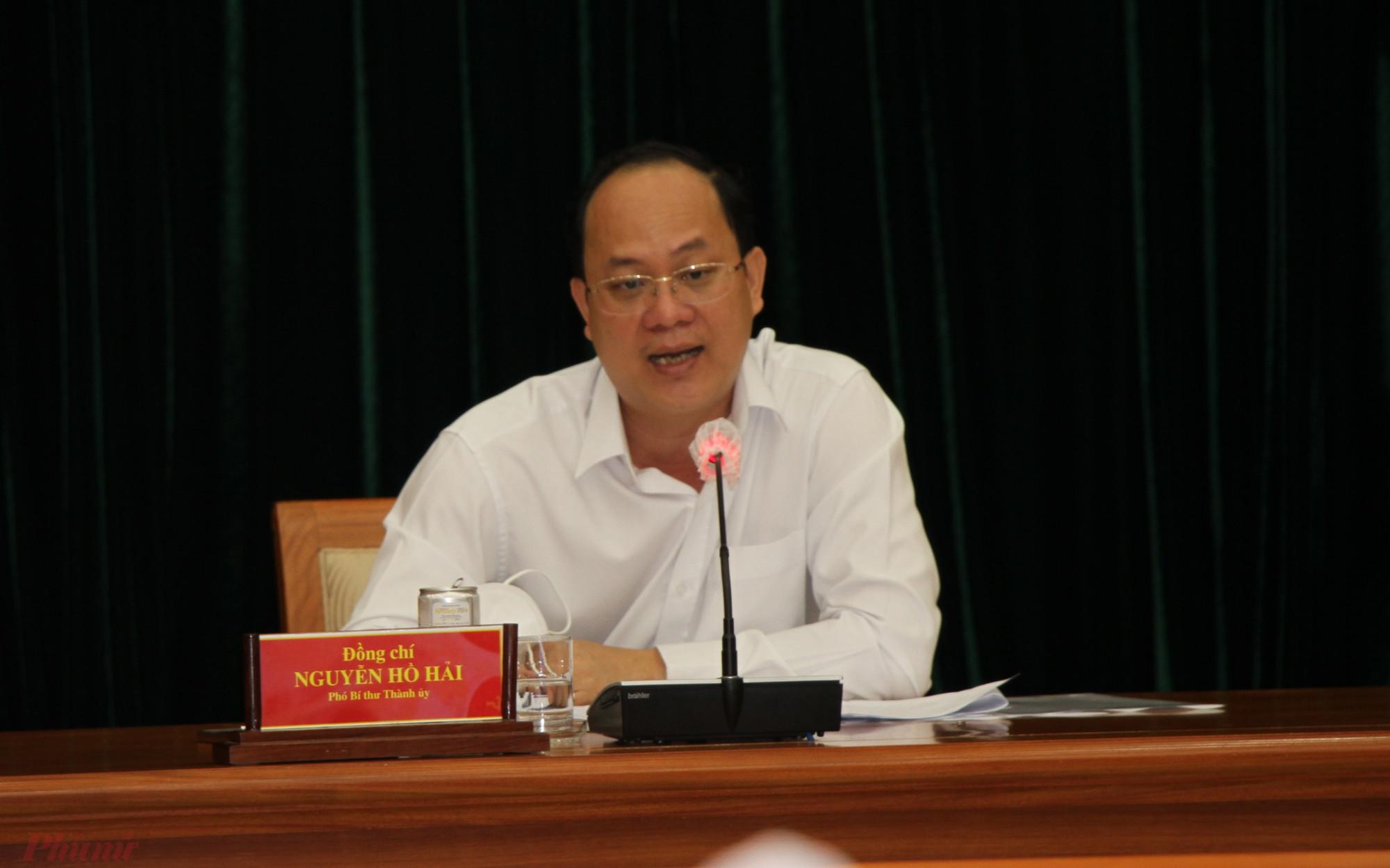 Phó bí thư Thành ủy Nguyễn Hồ Hải chủ trì hội nghị