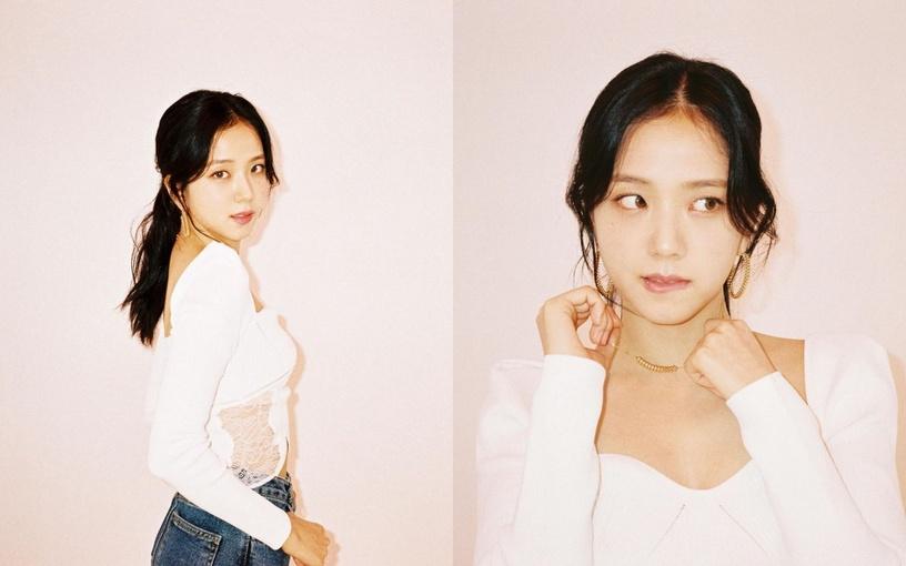 Với những cô nàng sở hữu gương mặt chuẩn V-line thon gọn như Jisoo (Blackpink), áo cổ vuông độn vai được xem là lựa chọn tối ưu nhất. Ngoài ra, việc sử dụng hoa tai tròn to bản, cũng có thể che đi khuyết điểm nhỏ có đường nét khuôn mặt thanh mảnh.