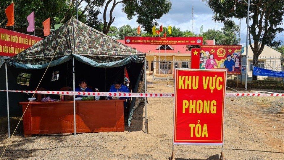 xã Quảng Sơn thực hiện các biện pháp phòng chống dịch COVID-19