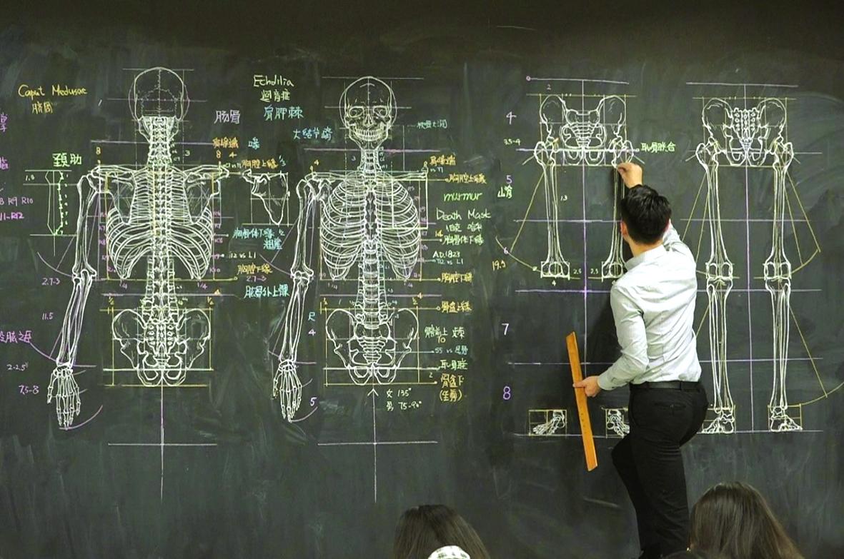 Thầy Zhong Quanbin trong một tiết học - ẢNH: ODD