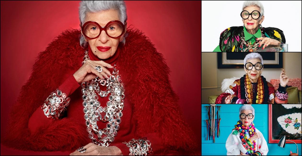 Bà Iris Apfel kể công ty sản xuất vải của bà đã cung cấp vải cho nhiều đơn vị trong đó có Bộ Ngoại giao, Nhà Trắng, Bảo tàng Nghệ thuật Metropolitan và nhiều công ty giải trí của Mỹ. Chồng bà qua đời vào năm 2015, trước thời điểm mừng tuổi 101. Sau khi chồng mất, bà Iris Apfel tiếp tục nhiều công việc trong đó có thiết kế đồ trang sức cho người cao tuổi. Những thiết kế này vừa làm đẹp, vừa được tích hợp chức năng kiểm tra sức khoẻ.