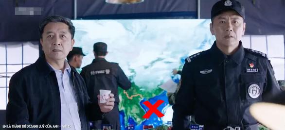 Cảnh trong tập 15 phim Em là thành trì doanh lũy của anh có bản đồ Trung Quốc với đường lưỡi bò