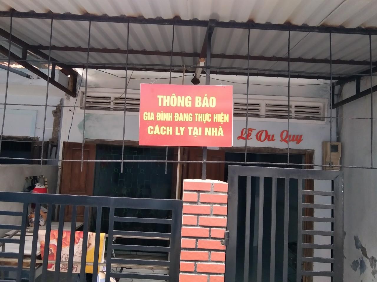 Nhà dân ở TP Tuy Hòa, tỉnh Phú Yên có người cách ly y tế