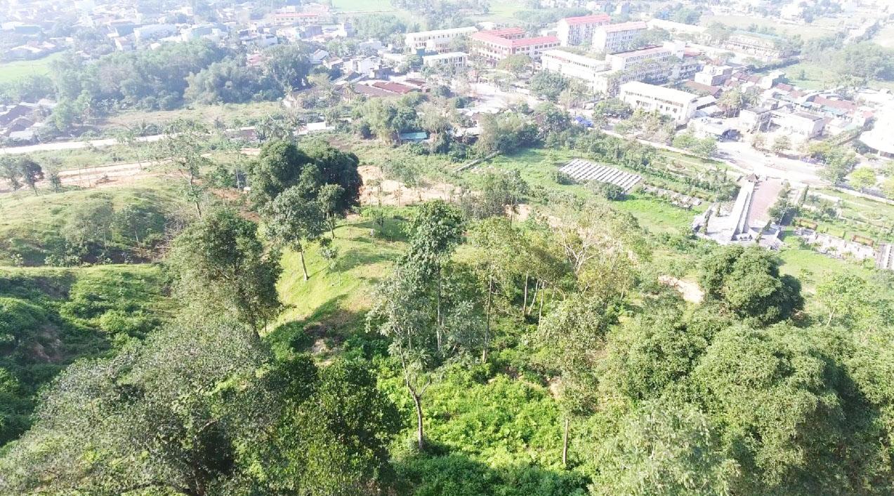 Khu vực dự kiến xây dựng Trung tâm Hội nghị và Triển lãm tỉnh Quảng Ngãi
