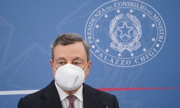 Thủ tướng Ý Mario Draghi trong cuộc họp báo ngày 2/9.