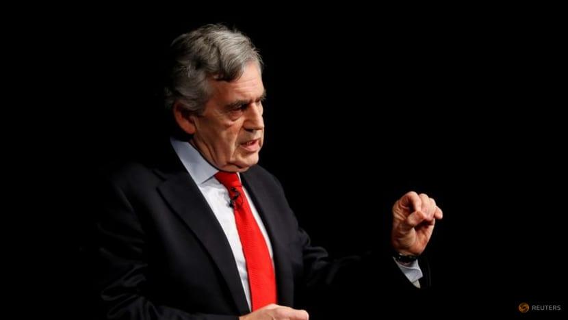 Cựu Thủ tướng Anh Gordon Brown phát biểu tại một sự kiện ở Edinburgh, Scotland, Anh ngày 17/1/2019. REUTERS