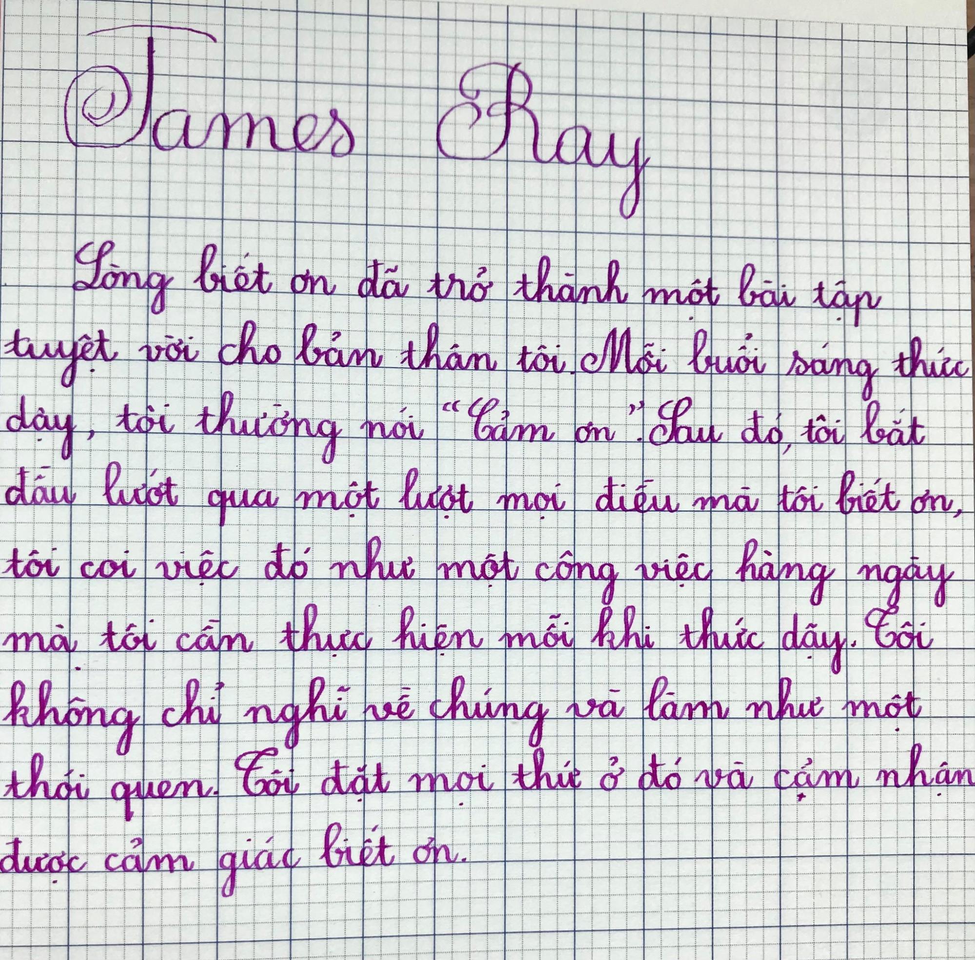 Nét chữ viết của con gái.