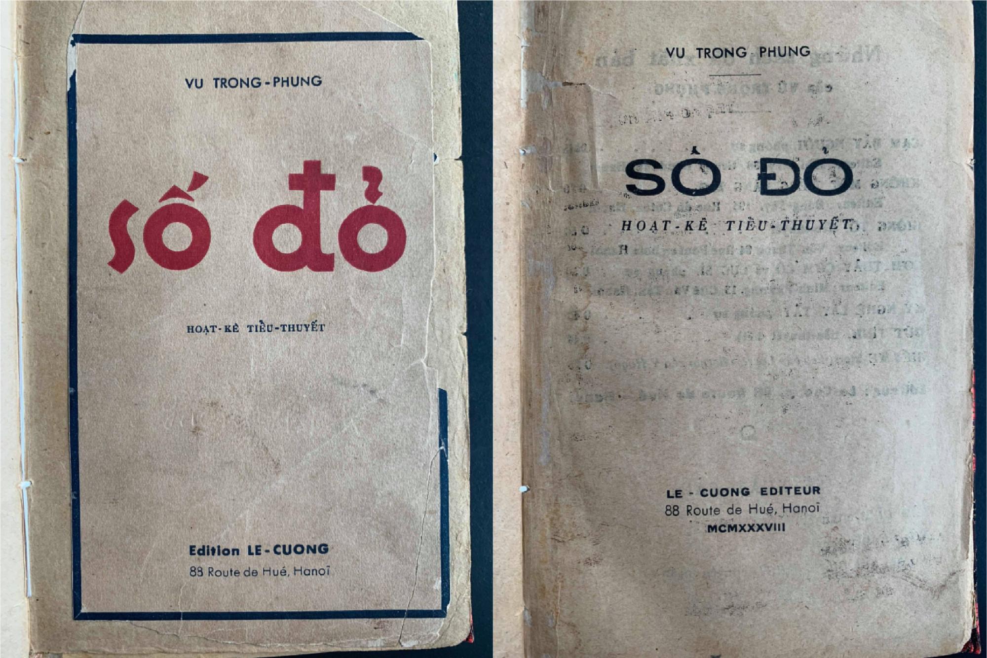 Tiểu thuyết Số đỏ lần đầu in thành sách năm 1938