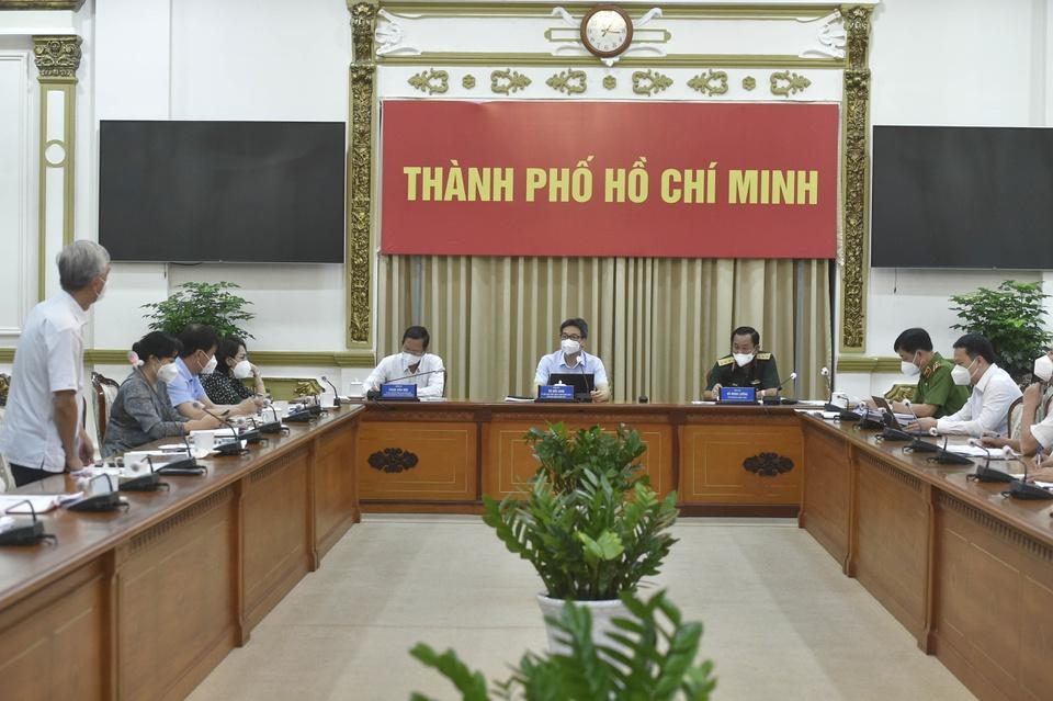 Phó thủ tướng Vũ Đức Đam chủ trì cuộc họp với tổ công tác đặc biệt của Chính phủ và Ban Chỉ đạo phòng, chống dịch COVID-19 TPHCM