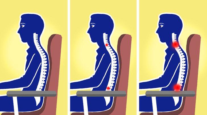 Đây là một điểm mà chúng ta thường xuyên bỏ qua và sau một thời gian dài, vùng thắt lưng sẽ trở nên nhức mỏi. Một chiếc ghế phù hợp với tư thế ngồi của chúng ta phải có phần lưng ghế cong theo hình chữ S tự nhiên của xương sống. Với những chế không được thiết kế giúp hỗ trợ vùng cổ và thắt lưng có thể gây ra tác động xấu cho cột sống.