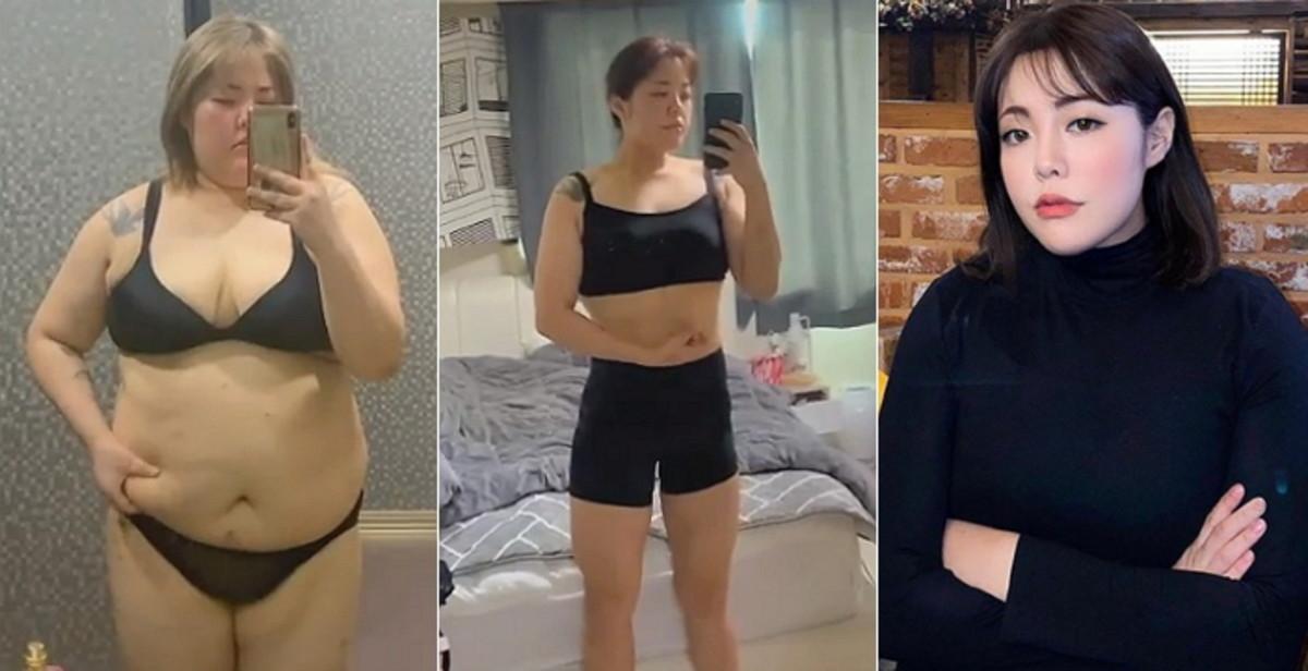 """Cô nàng tâm sự: """"Ngay cả khi thay đổi chậm, bạn cũng sẽ được đền đáp cho sự chăm chỉ và nghiêm túc của mình. Đừng bỏ cuộc cho đến cuối cùng!. Chính sự kiên trì cao độ, tháng 8/2020, Yang Soobin đã thành công giảm 24 kg mỡ sau 1 năm tập luyện, các chỉ số về cơ, huyết áp… của cô nàng cũng cải thiện đáng kể, không còn tình trạng đau nửa đầu, chuột rút và mệt mỏi như trước."""
