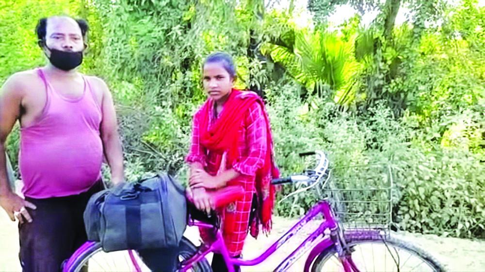 Kumari và cha trên đường