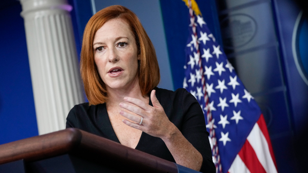 Thư ký báo chí Nhà Trắng Jen Psaki hôm 8/9 công bố với báo giới rằng biện pháp mới chống dịch sẽ ảnh hưởng đến mọi người dân trên khắp đất nước – Ảnh: MSN