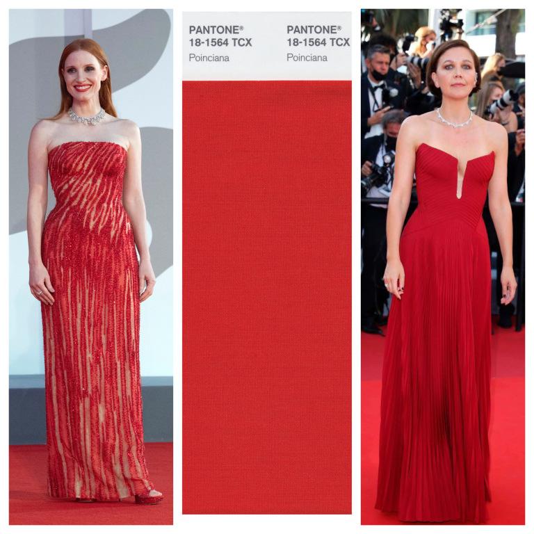 Jessica Chastain và Maggie Gyllenhaal quyến rũ với sắc đỏ.