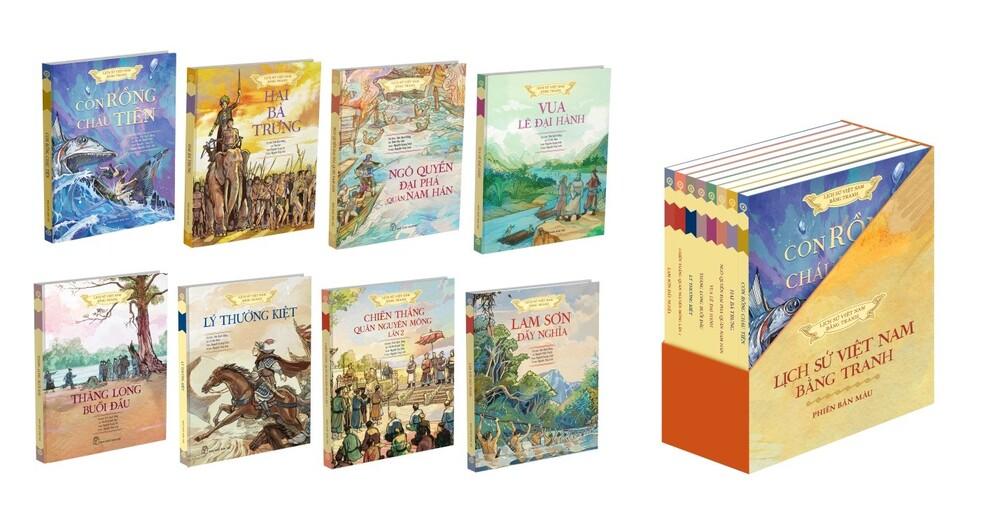 Lịch sử Việt Nam bằng tranh phiên bản màu là một trong những bộ sách được chọn làm quà tặng cuộc thi