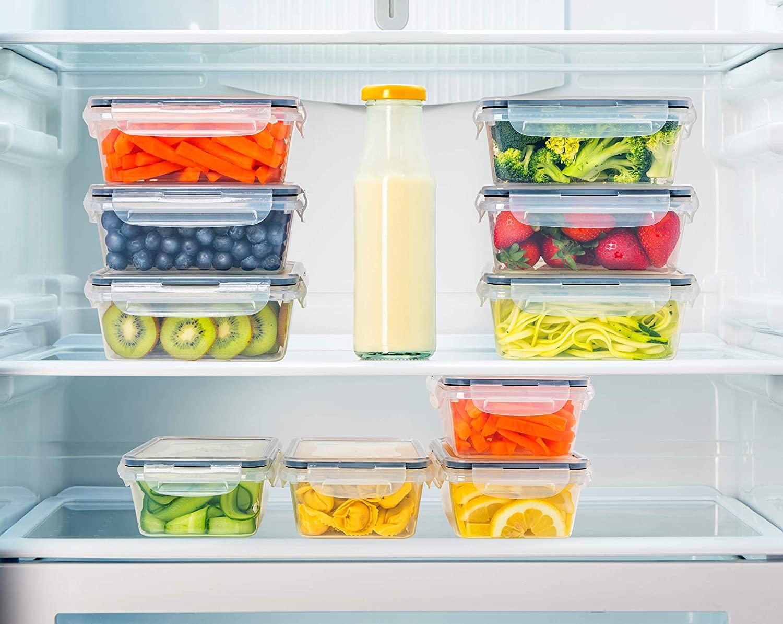 Bảo quản thức ăn trong tủ lạnh: Các hãng sản xuất dụng cụ nhà bếp luôn có các bộ sản phẩm bảo quản thực phẩm trong tủ lạnh. Việc của bạn là chọn một sản phẩm theo sở thích, mang về nhà, dùng chúng để đựng thực phẩm rồi bảo quản trong tủ lạnh.