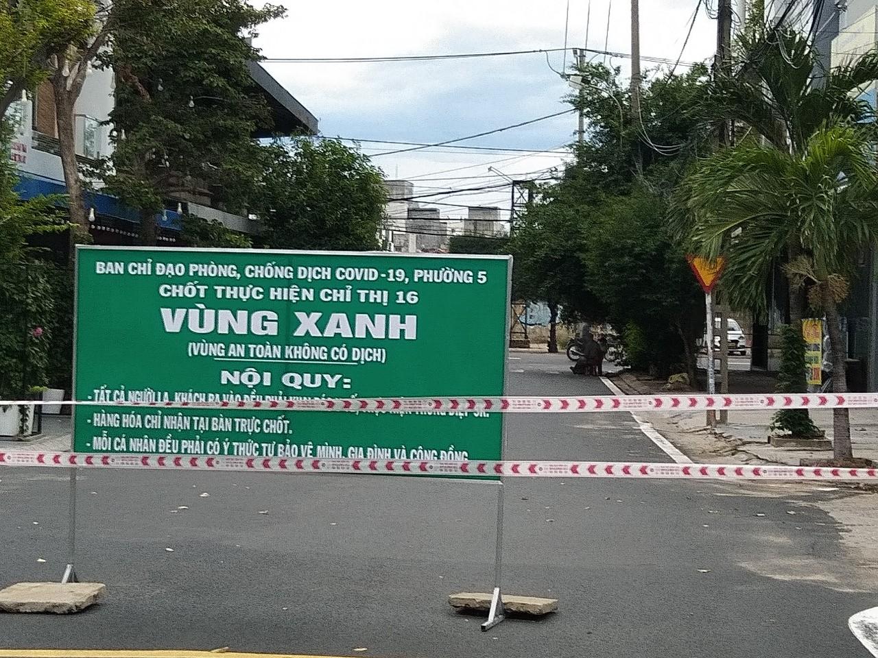 Chốt vùng xanh ở TP Tuy Hòa), tỉnh Phú Yên