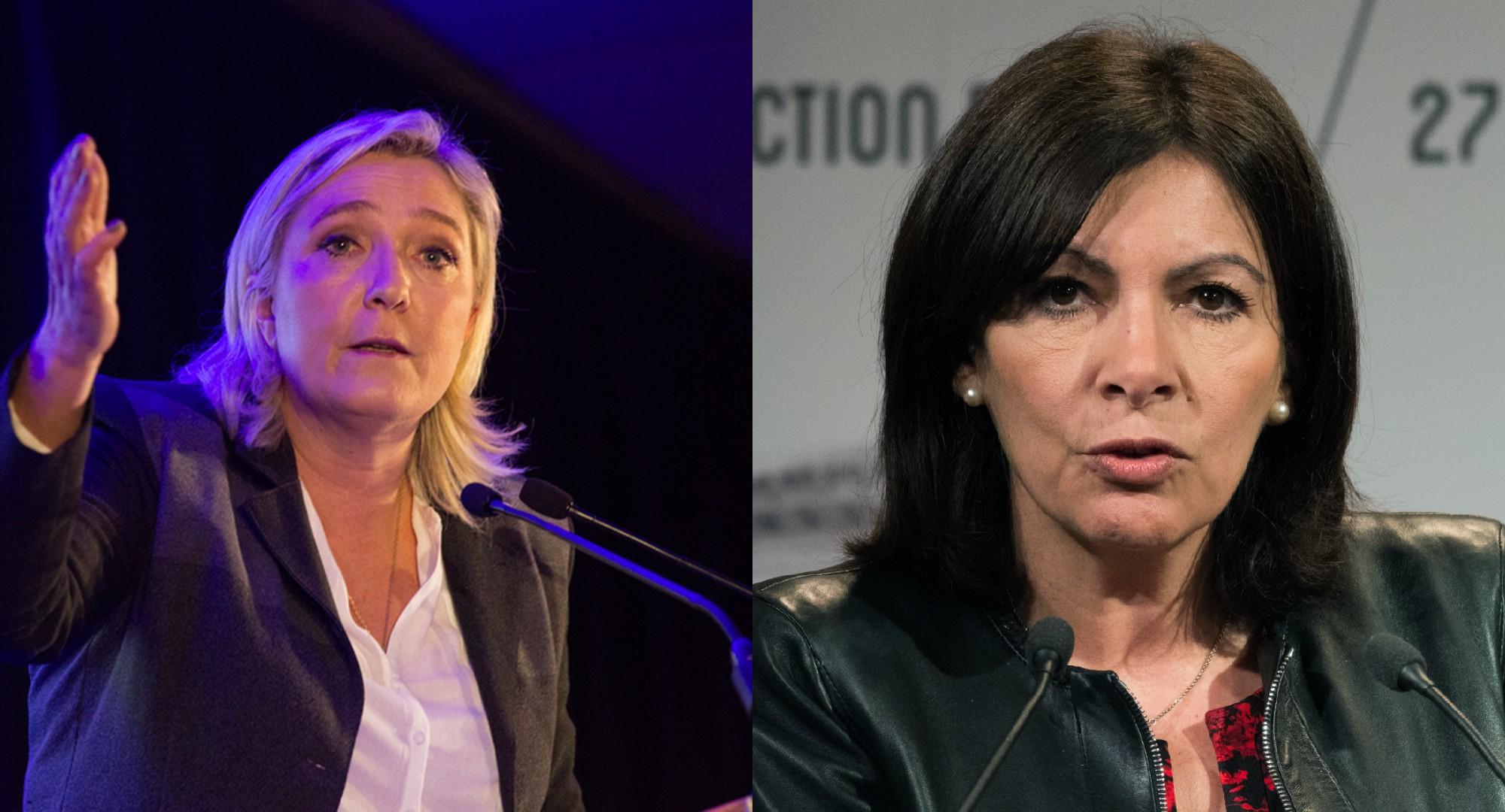 Bà Marine Le Pen vàAnne Hidalgovận động tranh cử vị trí Tổng thống Pháp cho cuộc bầu cử mùa xuân năm 2022.