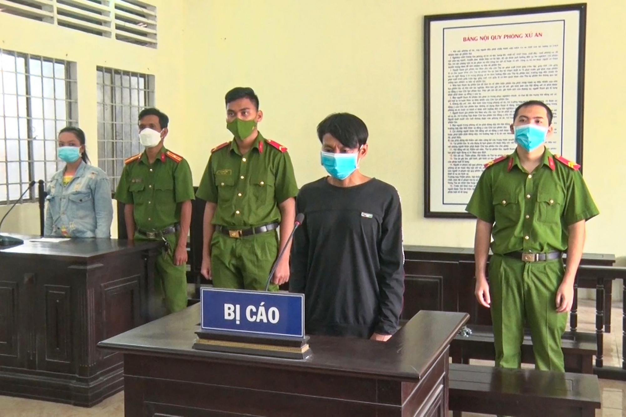 Phạm Minh Nhật Trung tại phiên tòa