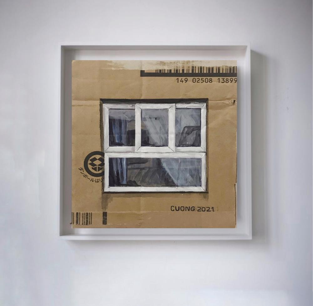 Tác phẩm 'Cửa sổ', nơi anh quan sát mọi thứ để bắt đầu dự án.
