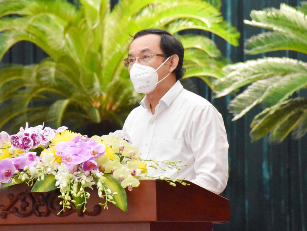 Bí thư Thành ủy TPHCM Nguyễn Văn Nên khẳng định tất cả các giải pháp đề ra đều căn cứ theo diễn biến tình hình thực tế trên địa bàn TP.