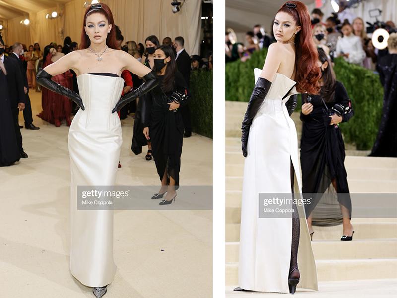 Người mẫu Gigi Hadid xuất hiện khá ấn tượng tại Met Gala bởi