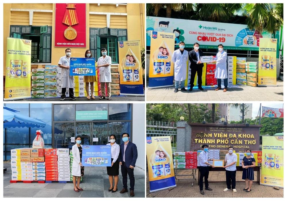 """Chuỗi hoạt động được Vinamilk triển khai trên cả nước với thông điệp """"Tuyến đầu khỏe mạnh, Việt Nam khỏe mạnh"""" - Ảnh: Vinamilk"""