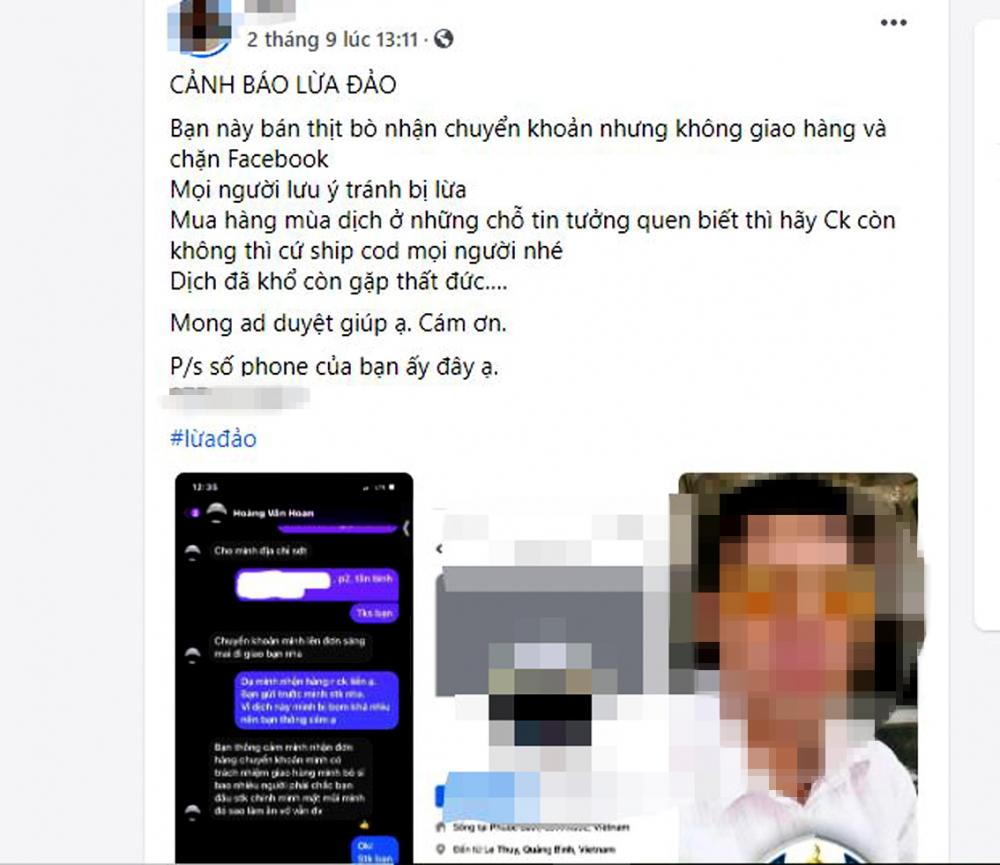 Một đối tượng lừa đảo bán hàng online vừa bị công an bắt giữ