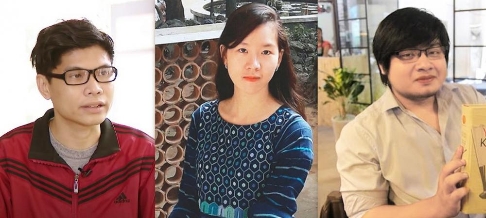Từ trái qua: Đức Anh, Hiền Trang, Nhật Phi
