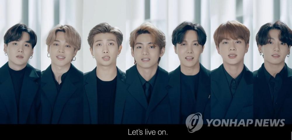 BTS truyền tải thông điệp hy vọng tại Liên Hợp Quốc năm 2020.