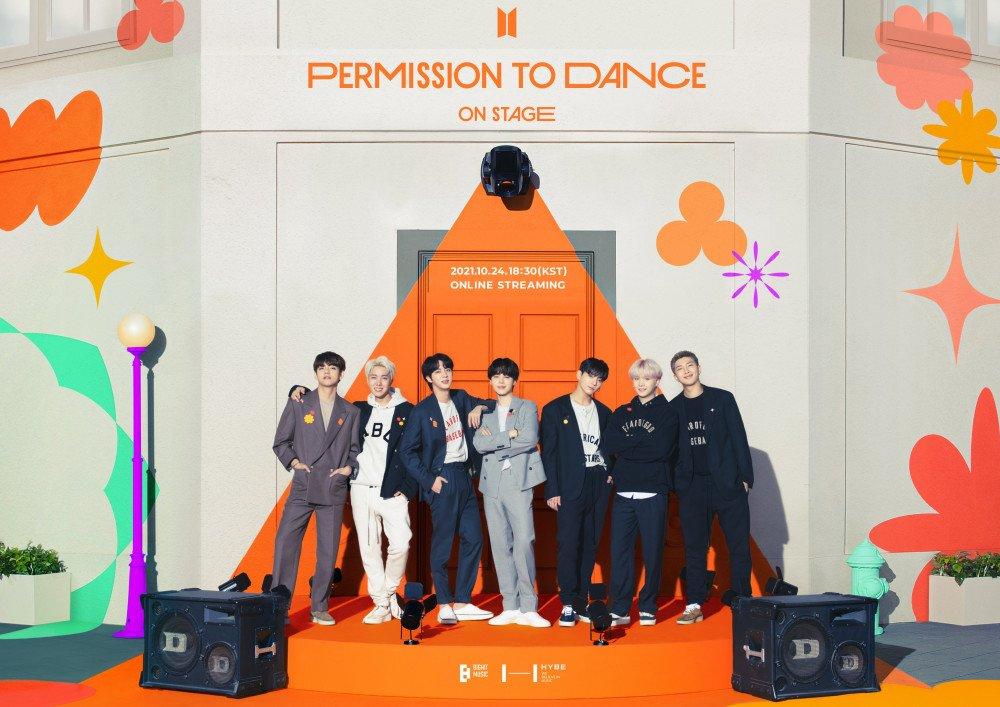 BTS vừa công bố tổ chức concert trực tuyến Permission To Dance On Stage vào tháng 10 tới đây.