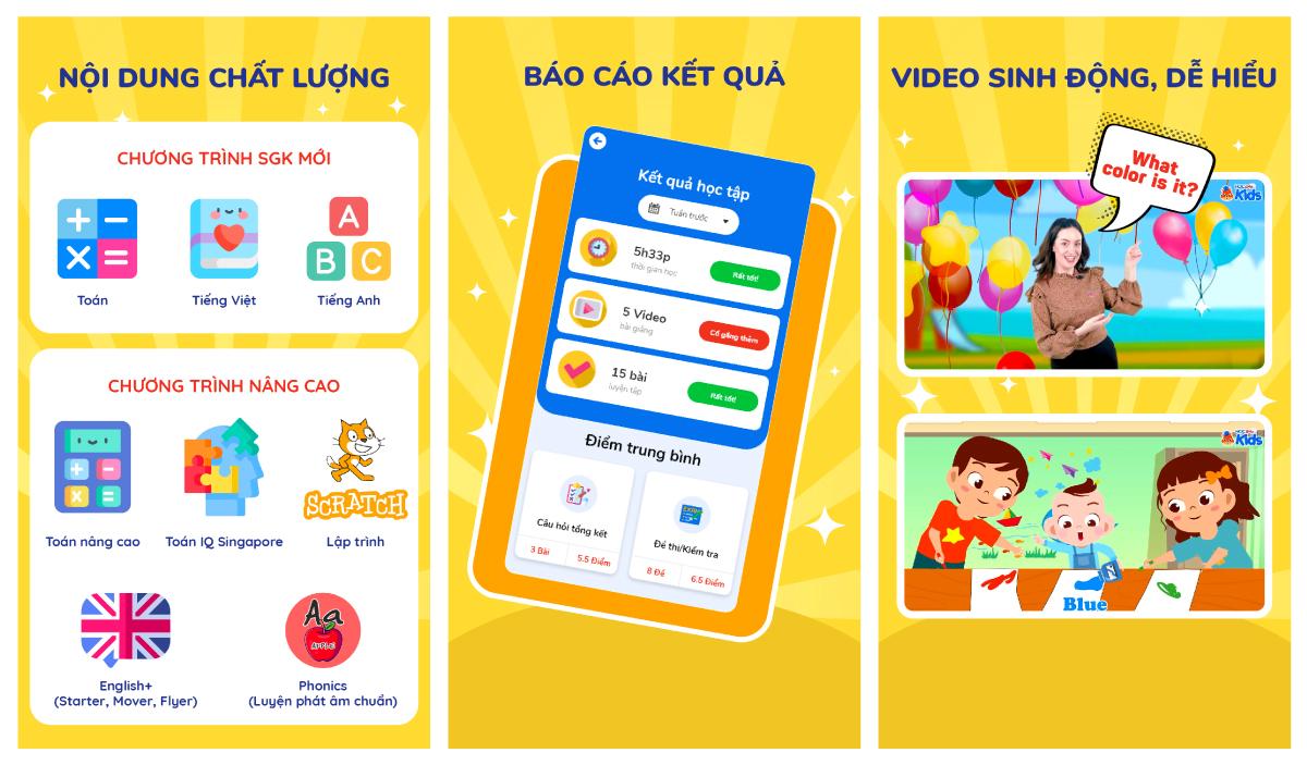 Nền tảng HOC247 Kids trên iOS, Android và Web