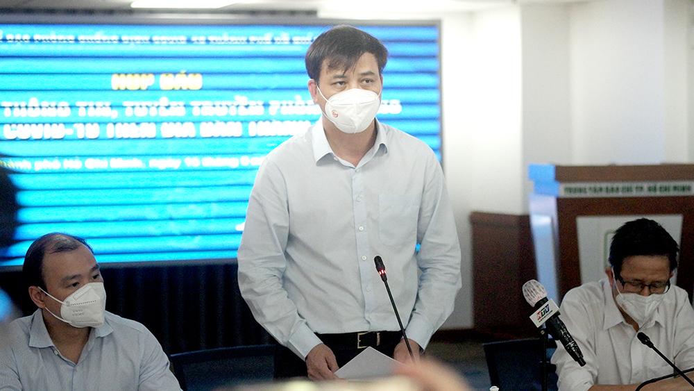Phó Chủ tịch UBND TP Lê Hòa Bình công bố văn bản 3072 của UBND tiếp tục giãn cách xã hội đến hết 30/9/2021