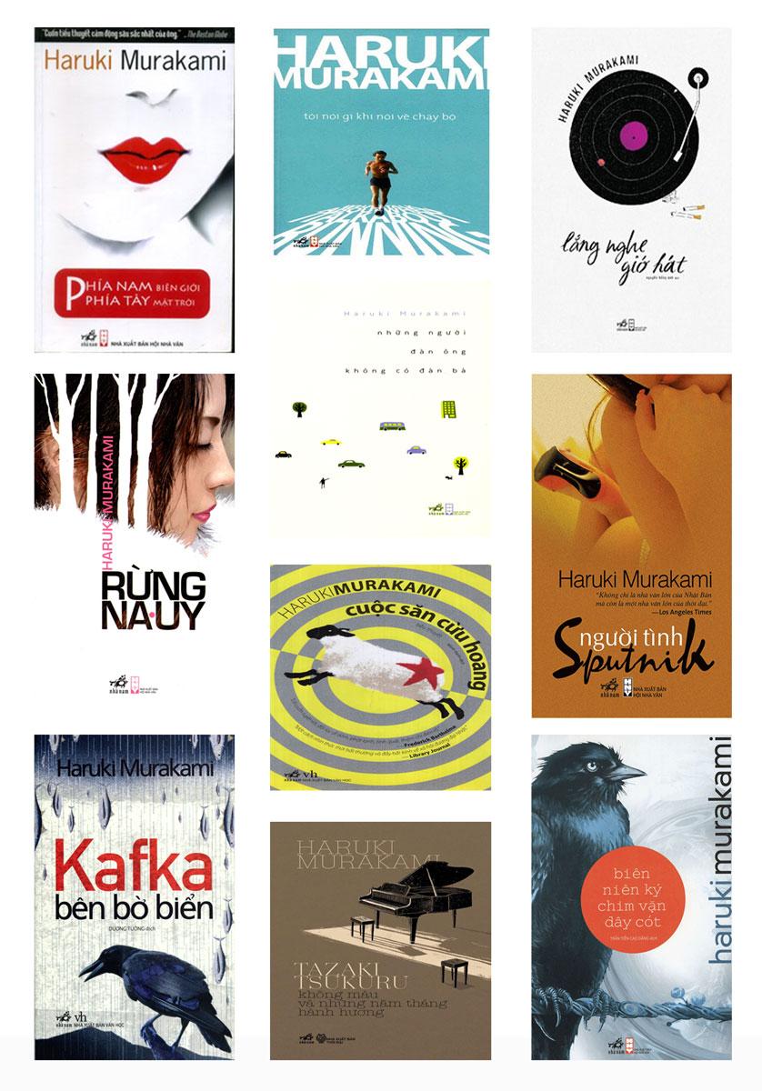 Những tựa sách của tác giả Murakami được bạn đọc Việt Nam yêu thích