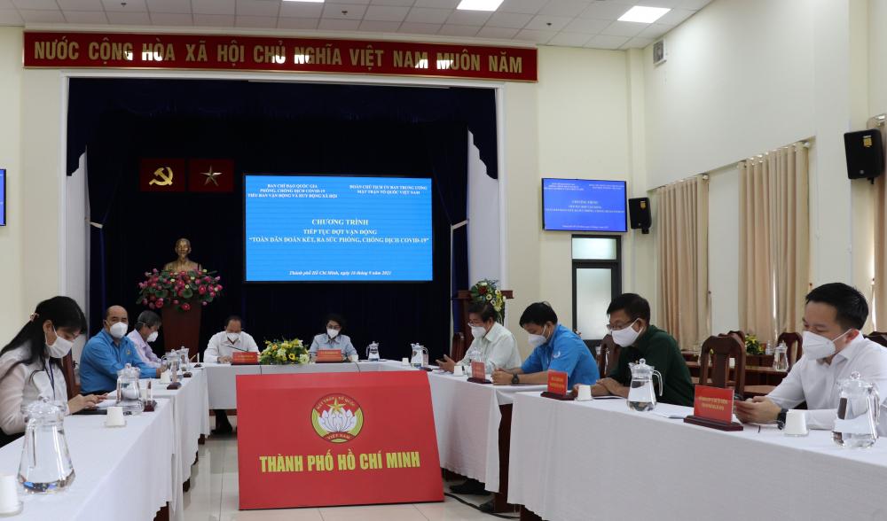 Điểm cầu TPHCM có sự tham dự của lãnh đạo nhiều sở ngành TP.