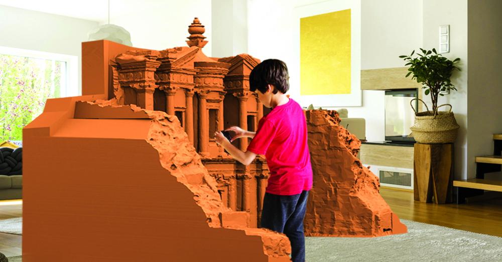 Ứng dụng TimeLooper giúp học sinh có thêm trải nghiệm tham quan hấp dẫn, bổ ích. Tiêu biểu như dự án thành phố cổ Petra được tái dựng sống động và chi tiết dưới dạng mô hình 3D thu nhỏ - Ảnh:Cerengultekin