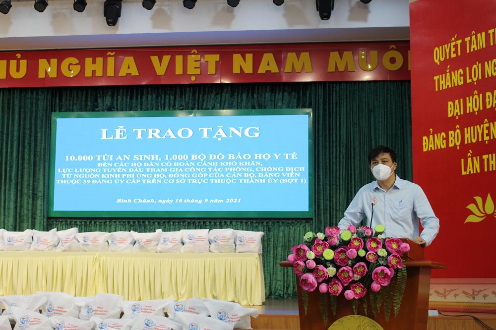 Ông Lê Hòa Bình phát biểu tại buổi lễ.