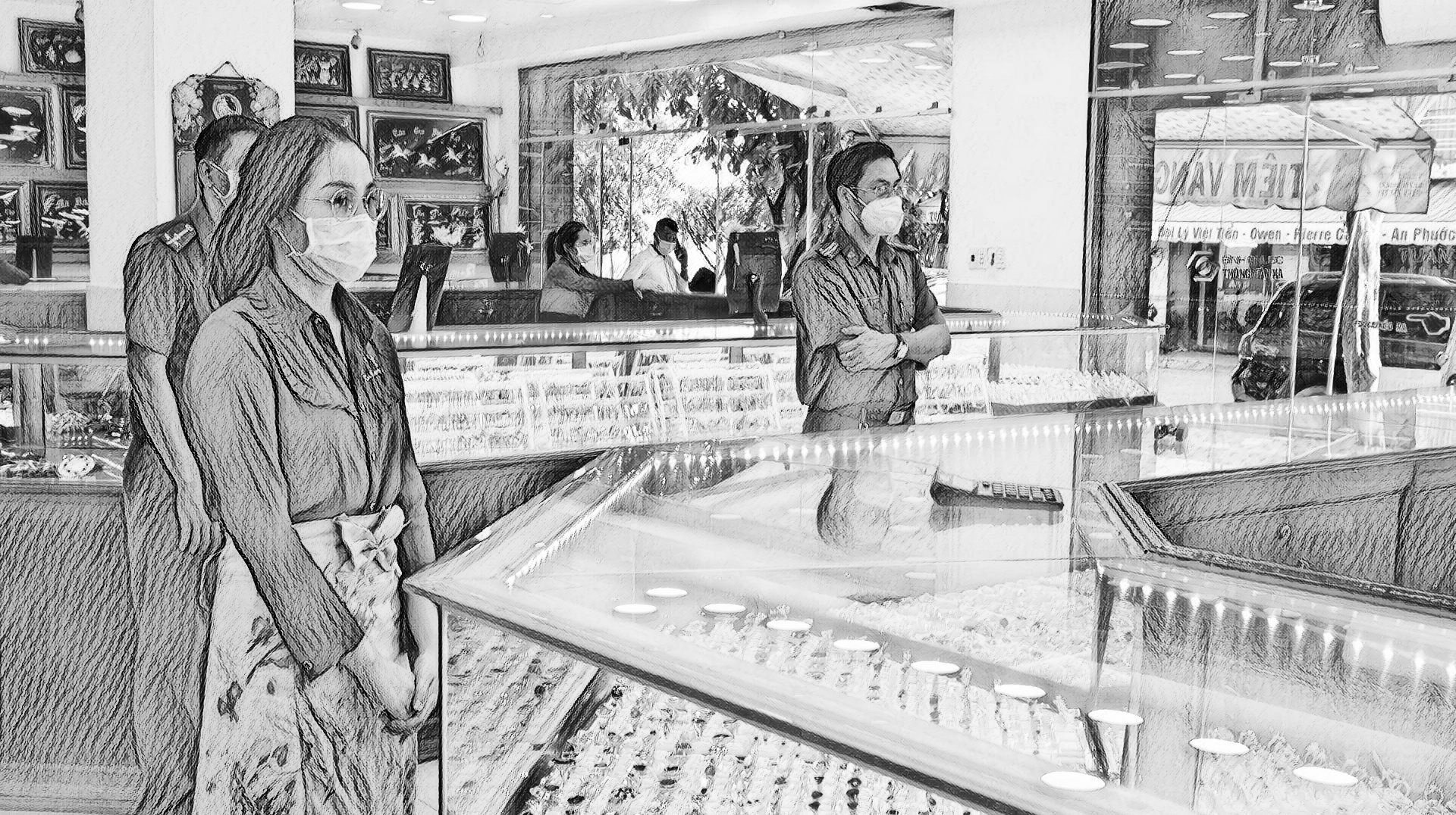 Nhung tại tiệm vàng Kim Hương 1