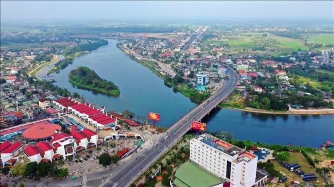 Một góc TP. Đông Hà nhìn tù trên cao